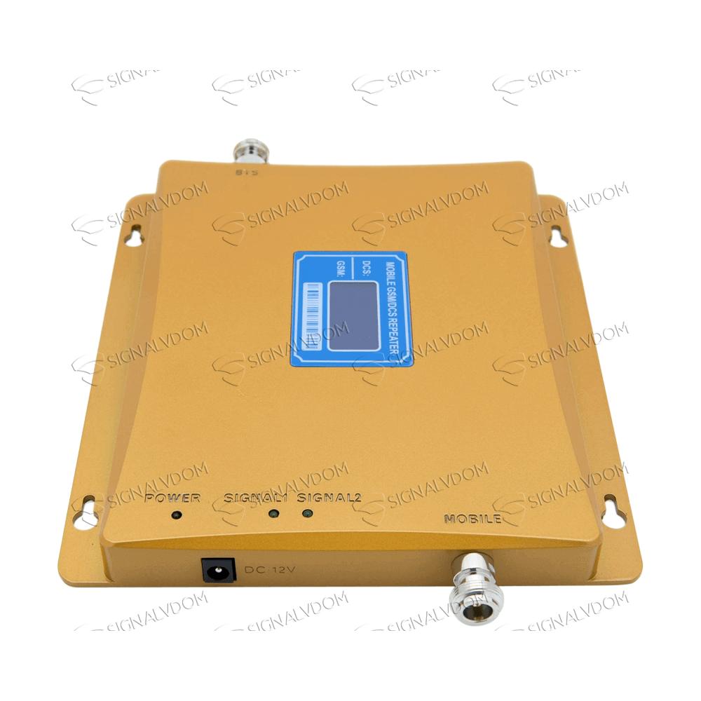Усилитель сигнала Power Signal 900/1800 MHz (для 2G, 3G, 4G) 70 dBi, кабель 15 м., комплект - 3