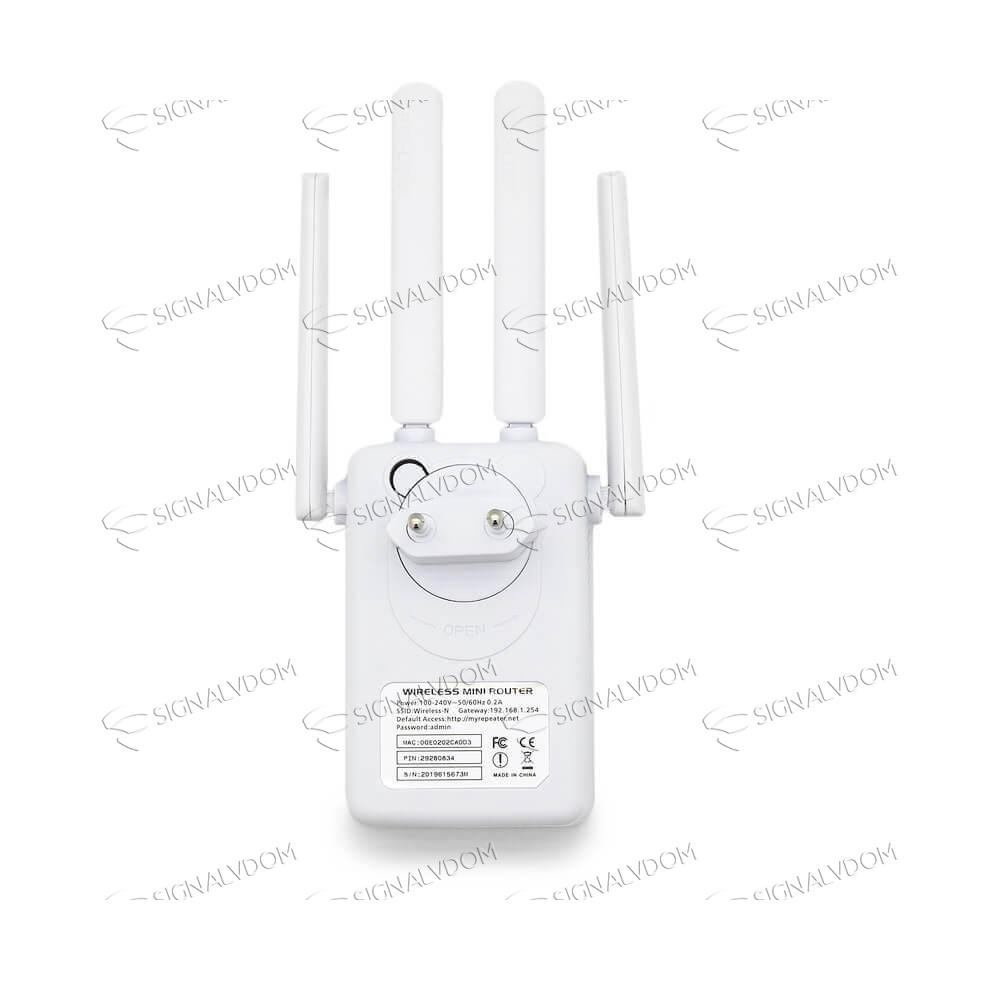 Усилитель Wi-Fi усилитель сигнала Pix-Link 4 антенны 2.4GHz - 3