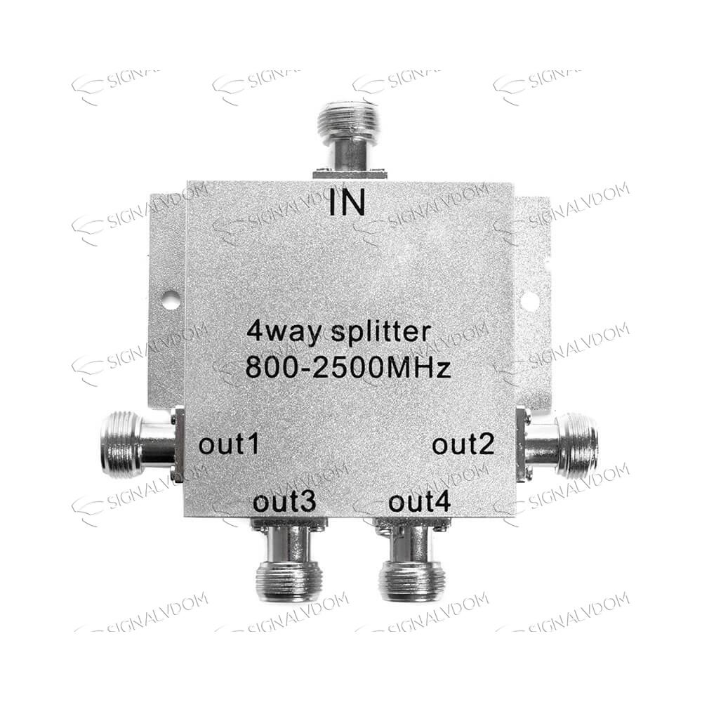 Делитель сигнала c микрочипом (сплиттер) 1/4 WS 506 800-2500 MHz - 2