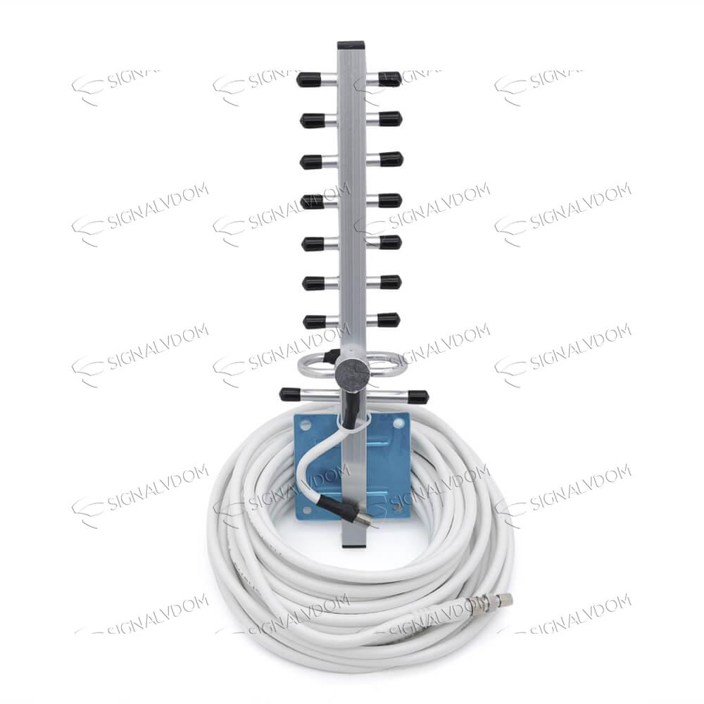 Усилитель сигнала Power Signal 2100 MHz (для 2G) 65 dBi, кабель 10 м., комплект - 4